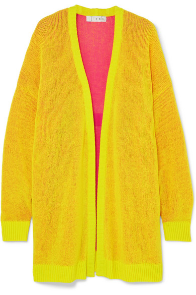 TRE Miki Oversized Cashmere Cardigan in Bright Yellow