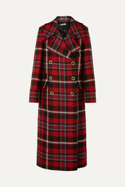 Miu Miu Oversized tartan wool coat