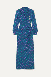 Miu Miu Embellished silk-jacquard maxi dress