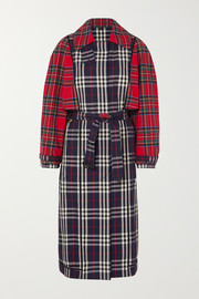 Burberry Patchwork checked cotton trench coat