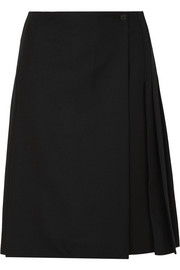Burberry Pleated wool skirt
