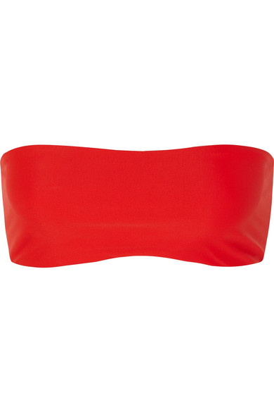 JADE SWIM All Around Bandeau Bikini Top in Tomato Red