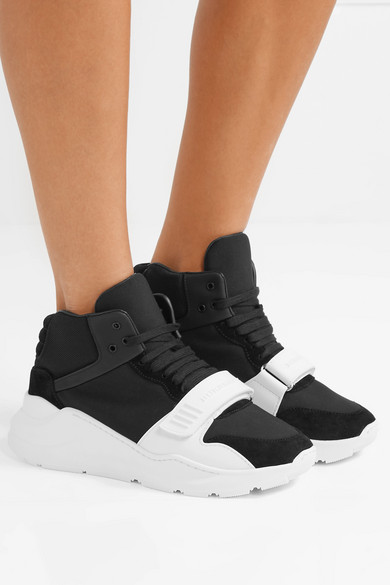 Burberry | High-Top-Sneakers Mesh aus Veloursleder, Neopren und Mesh High-Top-Sneakers mit Gummibesatz a4997a