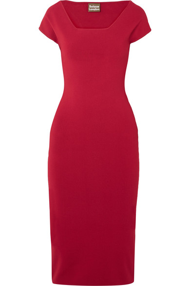 SOLACE LONDON The Ceirra stretch-knit midi dress