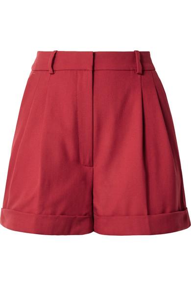 Racil - Max Wool-piqué Shorts - Red
