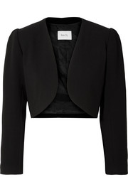 Norma cropped crepe jacket