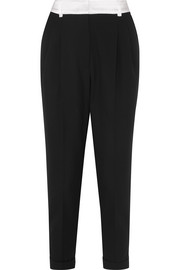 Albert satin-trimmed wool tapered pants