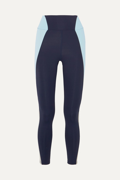 HEROINE SPORT Reflective-Paneled Stretch Leggings in Navy