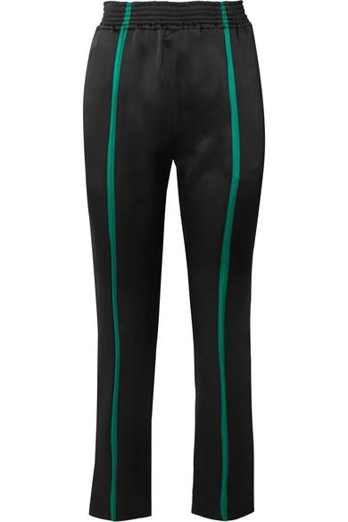 Haider Ackermann - Striped Satin Straight-leg Pants - Black