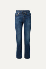 Saint Laurent Jean slim taille haute à broderies