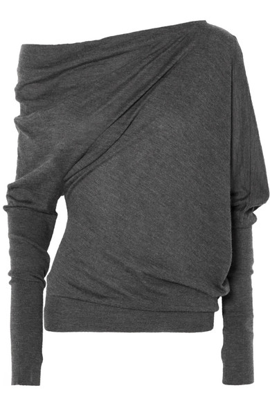 TOM FORD Pullover aus einer Kaschmir-Seidenmischung mit asymmetrischer Schulterpartie