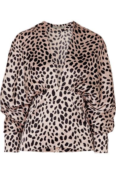 Emily Leopard-Print Silk-Blend Satin Blouse