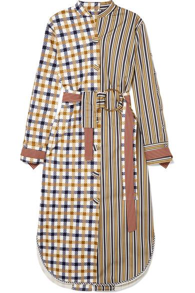 Kylie Patchwork Cotton-Blend Midi Dress