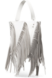 Proenza Schouler Hex medium fringed paneled leather tote