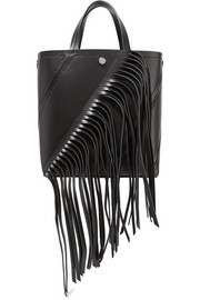 Proenza Schouler Hex small fringed paneled leather tote