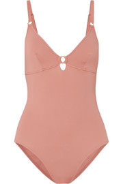 Havana embellished cutout swimsuit