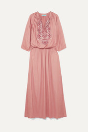 Sienna embroidered voile maxi dress