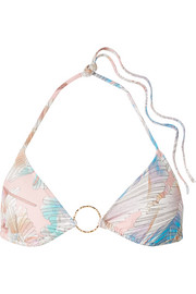 Melissa Odabash Miami embellished printed triangle bikini top