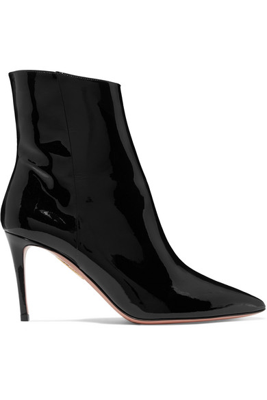 Alma Patent-Leather Ankle Boots