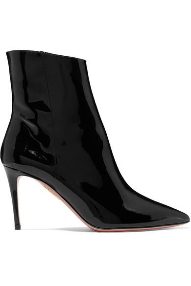 36b3e9ff1234c Aquazzura | Alma 85 patent-leather ankle boots | NET-A-PORTER.COM