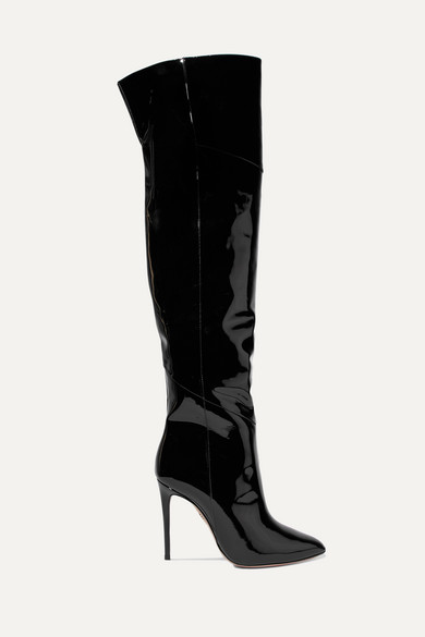 Alma Patent-Leather Over-The-Knee Boots