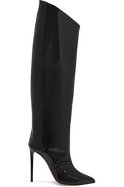 Alex patent-leather knee boots