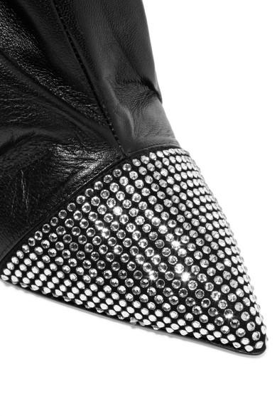 Alexandre Vauthier | Leder Dune Stiefel aus Leder | mit Kristallen 94383c