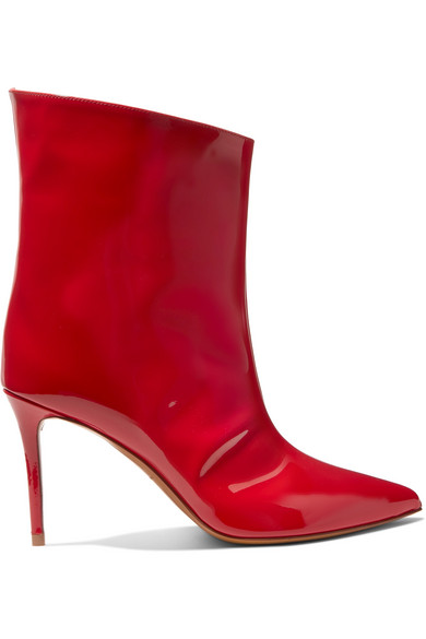 Alexandre Vauthier - Alex Patent-leather Ankle Boots - Red