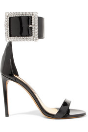 Alexandre Vauthier Yasmin Swarovski crystal-embellished patent-leather sandals