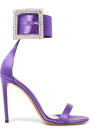 Yasmin Swarovski crystal-embellished satin sandals