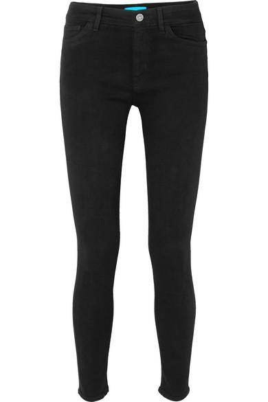 Bridge High-Rise Stretch-Denim Jeans in Black