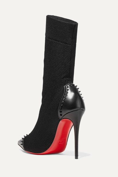 ab2b53be6fd Christian Louboutin | Dovi Dova 100 studded leather-trimmed stretch ...