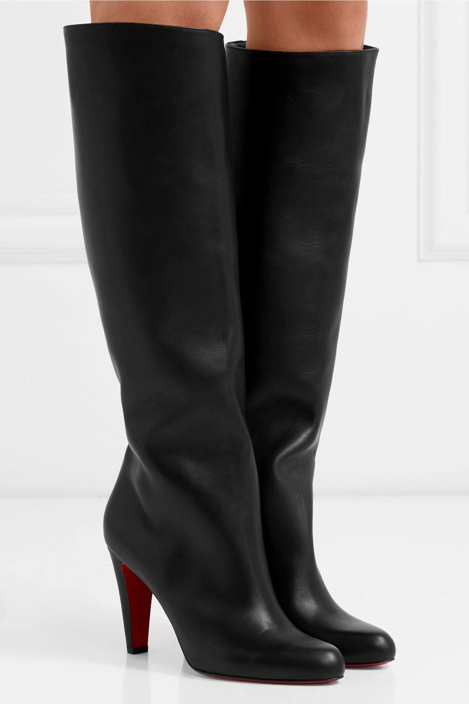 Christian Louboutin Marmara 85 leather knee boots