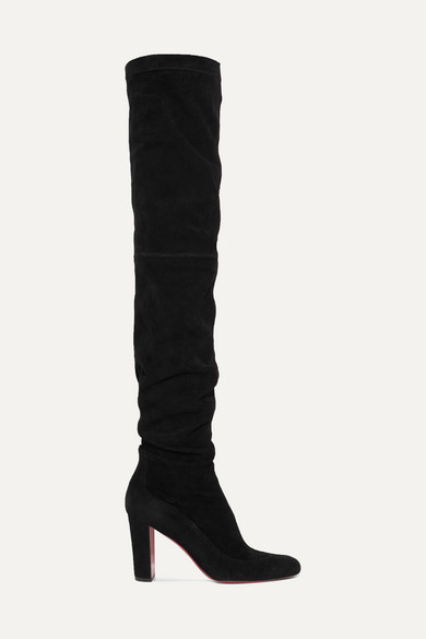 CHRISTIAN LOUBOUTIN Kiss Me Gena Over The Knee Boot in Black