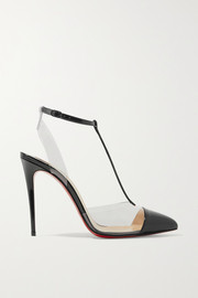 Nosy 100 patent-leather and PVC pumps