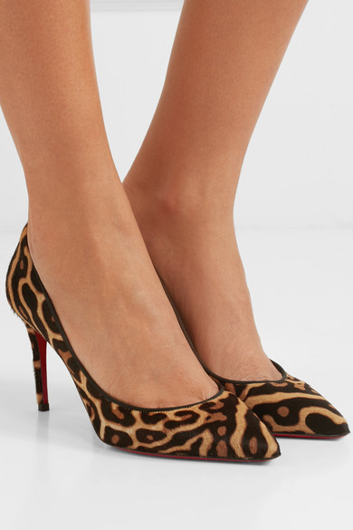 huge discount 77bcd ec284 Christian Louboutin | Pigalle Follies 85 leopard-print calf ...