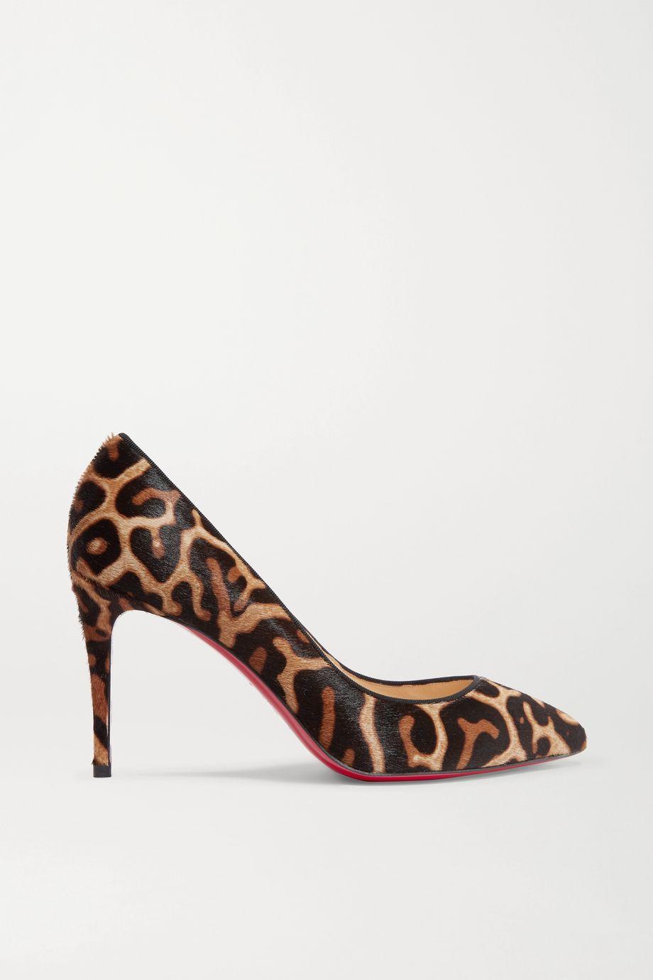 Christian Louboutin Pigalle Follies 85 leopard-print calf hair pumps