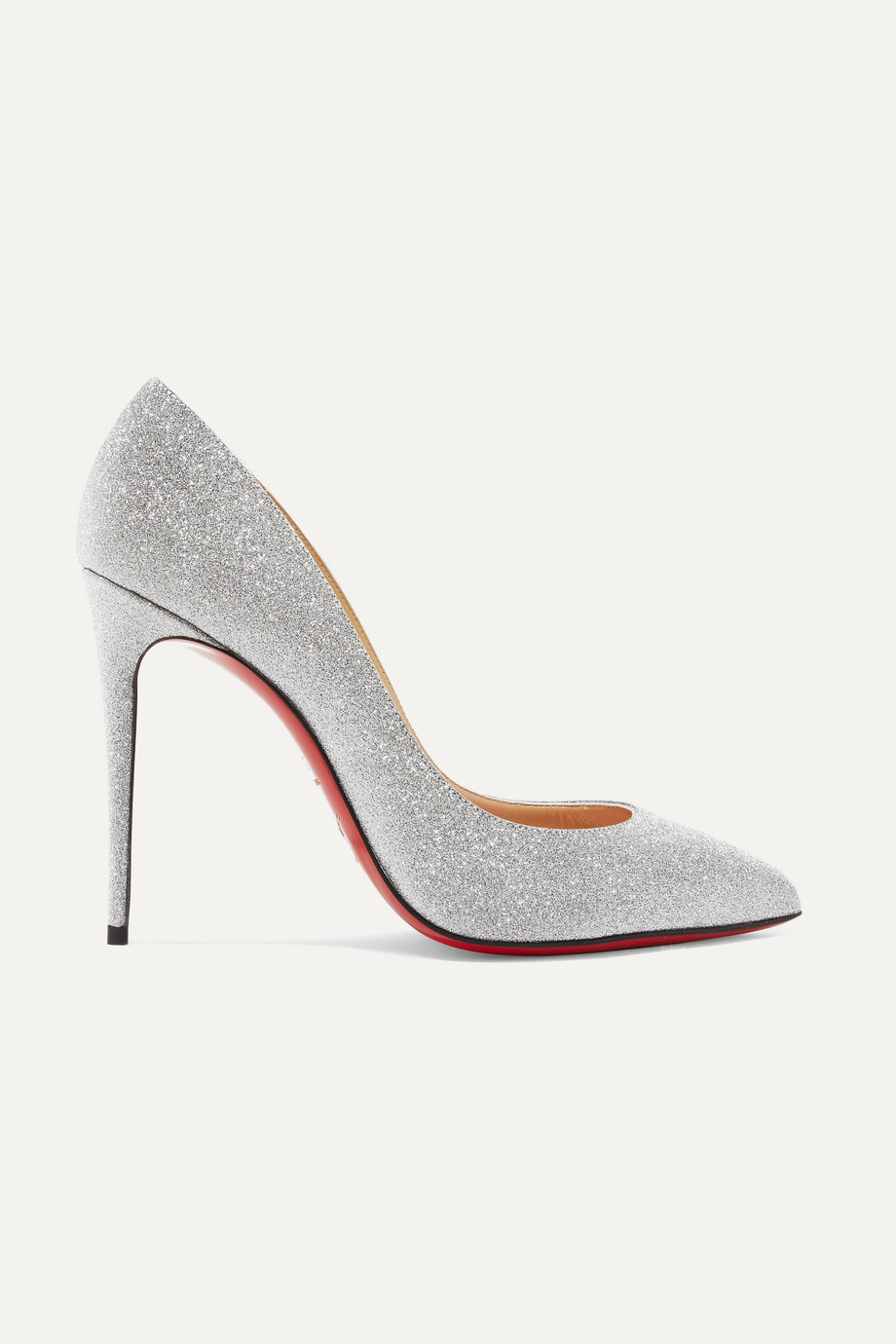 Christian Louboutin Pigalle Follies 100 glittered leather pumps