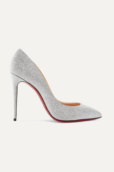 deb0d9b8a199 Christian Louboutin Pigalle Follies Glitter Pumps - White Size 9 In Silver