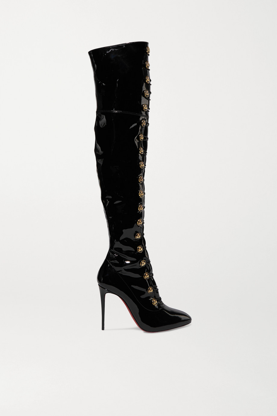 Christian Louboutin Frenchissima Alta 100 patent-leather over-the-knee boots