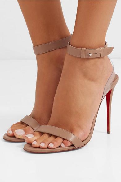 size 40 881c6 de80a Christian Louboutin | Jonatina PVC-trimmed leather sandals ...