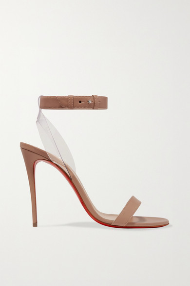 c1611f053473 Christian Louboutin. Jonatina PVC-trimmed leather sandals