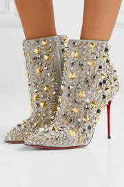 So Full Kate 100 embellished glittered leather ankle boots