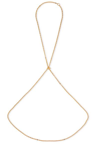 SASKIA DIEZ Barbelle Gold-Plated Body Chain