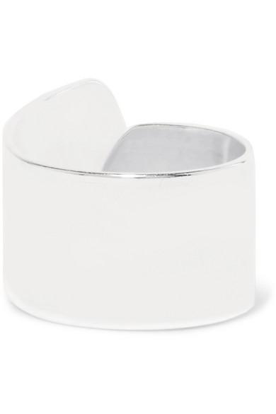 SASKIA DIEZ Stripe No1 Silver Ear Cuff