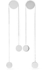 Saskia Diez Paillettes Dancing No5 silver earrings