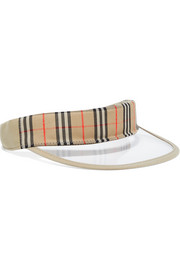 Burberry Checked cotton-canvas and PVC visor