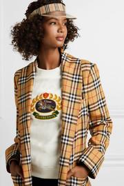 버버리 Burberry Checked cotton-canvas and PVC visor