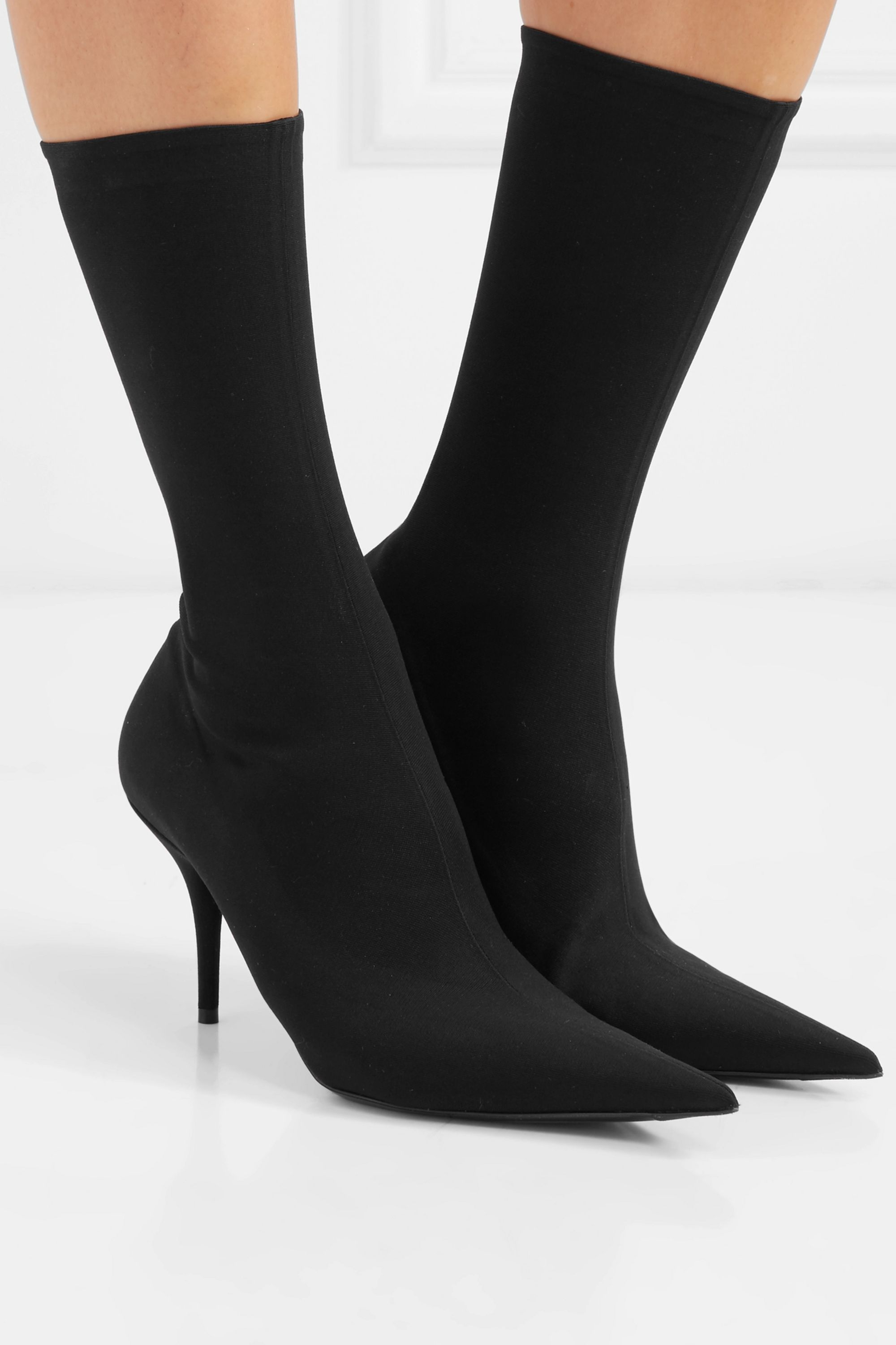 Knife spandex sock boots by BALENCIAGA, available on net-a-porter.com for $1290 Kim Kardashian Shoes SIMILAR PRODUCT