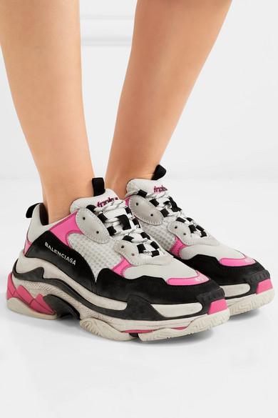 Balenciaga   und Triple Sneakers aus Mesh und   Nubukleder 5d35f9